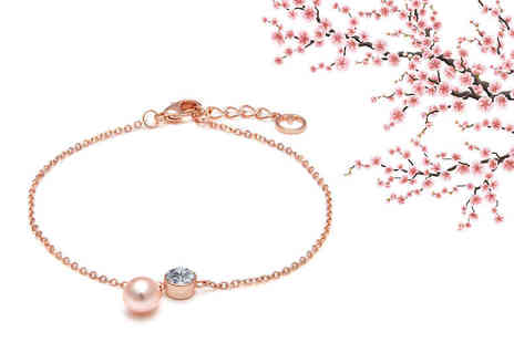 Lily Spencer - Pearl and crystal anklet choose from two colours - Save 71%