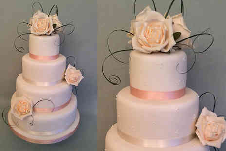 Anns Designer Cakes - Three or four tier luxury round wedding cake - Save 66%