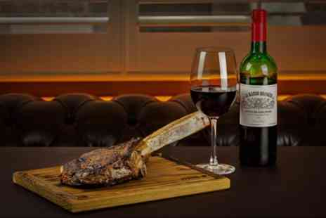 McQueen Shoreditch - Tomahawk Steak with Wine, Sides and Sauces to for Two or Four - Save 56%