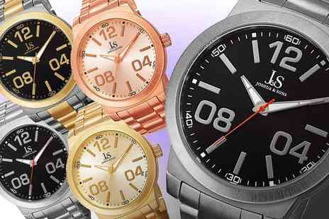Groupon Goods Global GmbH - Joshua and Sons Quartz Bracelet JS82 Mens Watch - Save 90%