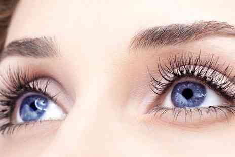 Rumours Beauty Studio - Full Set of Silk Eyelash Extensions with Option for Eyebrow Wax and Tint - Save 47%