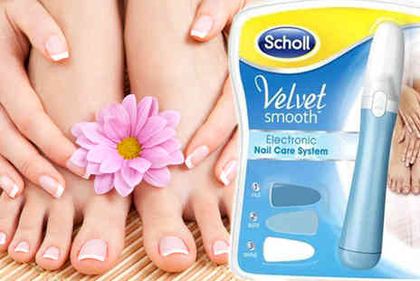 Meetax - x1 Scholl Velvet Smooth Electronic Nail Care System - Save 75%