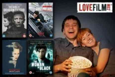 LOVEFiLM - DVD Rental and Unlimited Instant Streaming For Three Months - Save 70%