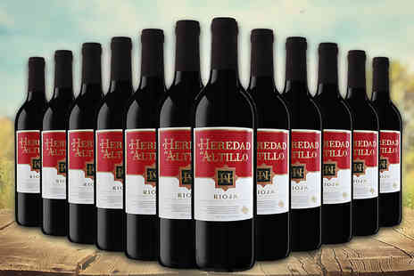 Easy Gifts - 12 bottles of Heredad De Altillo red wine - Save 62%