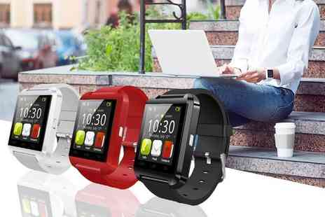 Tomllo - 15 in 1 Bluetooth smart watch choose from black, red or white - Save 78%