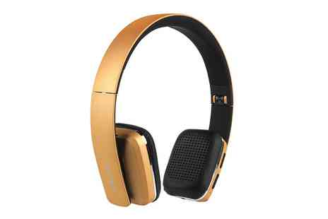 Groupon Goods Global GmbH - Intempo EE1758GOLSTK Bluetooth Wireless Headphones in Gold - Save 19%