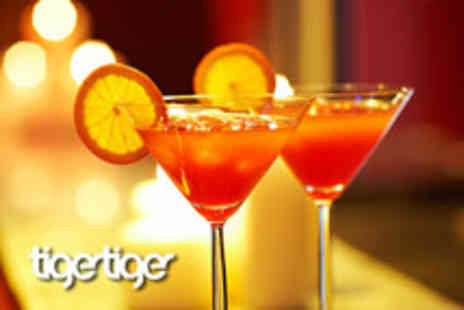 Tiger Tiger - Cocktails, food & club entry for 2, inc. 2 cocktails each and a sharing platter - Save 54%