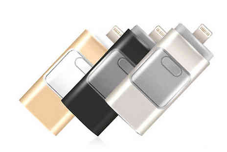 Gifts Emporium - iFlash Drive for iPhone or iPad 16GB, 32GB or 64GB - Save 86%