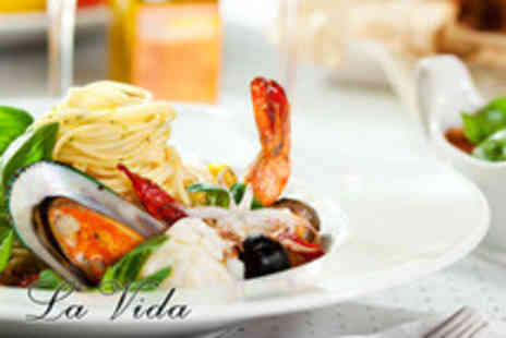 La Vida - 3 course authentic Mediterranean-inspired meal for 2 - Save 57%