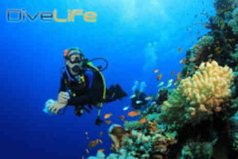 Dive Life - PADI Scuba Diving Open Water Referral Course including all tuition and equipment - Save 68%