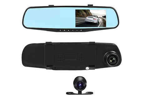 Gilded Olive - Rearview mirror car dashcam, or dashcam and an 8Gb Sd card - Save 80%