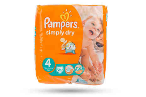 Ckent - Pampers simply dry nappies available in three different sizes - Save 0%