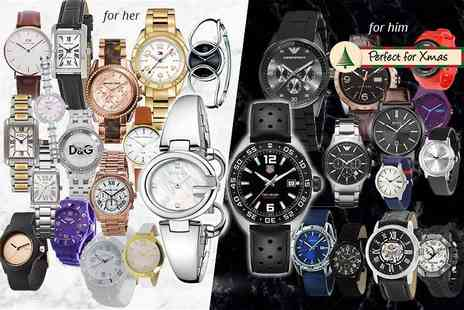 Brand Logic - Mystery watch deal for him or her From Tag Heuer , Gucci, Michael Kors, Dolce & Gabbana, Armani, Hugo Boss, Guess, Daniel Wellington, Calvin Klein, Breo and more - Save 0%