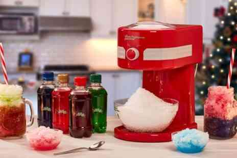 Groupon Goods Global GmbH - One or Two Cooks Professional Ice Slushy Makers with Optional Lickleys Syrups - Save 62%