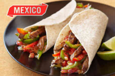 Mexico - Mexican meal for 2 inc. a starter, a main meal each - Save 50%
