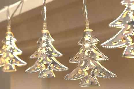 Groupon Goods Global GmbH - One, Two, Three or Four Pack of Battery Operated Christmas Tree String Lights - Save 33%
