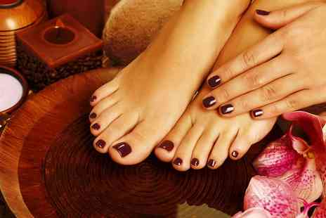 Addictions Hair & Beauty - Shellac Manicure, Pedicure or Both - Save 33%