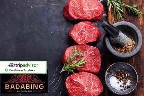 Badabing - Sirloin steak and fries for two - Save 53%
