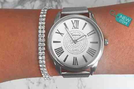 Solo Act - Crystal watch & bracelet gift set - Save 76%