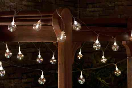 Groupon Goods Global GmbH - Glass Bubble Solar String Lights - Save 70%