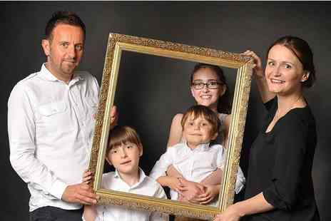 "Glasgow Family Photography - One hour family photoshoot for up to six people with two 8"" x 6"" and three 5"" x 7"" prints - Save 91%"