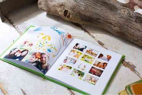 MyMemory - 100 page personalised square hardback photobook - Save 77%
