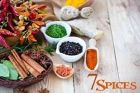 7 Spices - Two Course Indian Meal For Two With Naan Bread and Wine - Save 57%