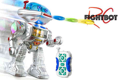 Fast Flamez - Remote control frisbee throwing robot - Save 74%