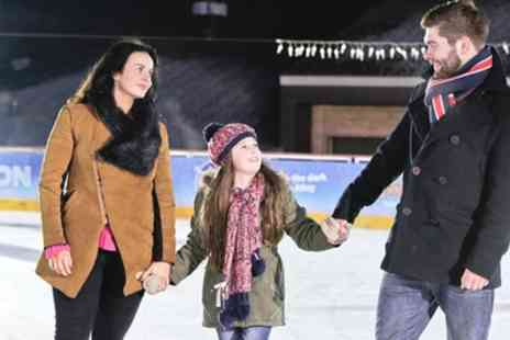 M&Ds Theme Park - Ice Skating with Optional Hot Chocolate for Two or Four - Save 48%