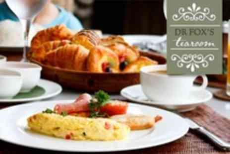 Dr Foxs Tearoom - Breakfast or Brunch For Two With Hot Drink Each - Save 63%