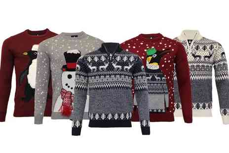 Groupon Goods Global GmbH - Threadbare 3D or Fair Isle Mens Christmas Jumpers - Save 0%