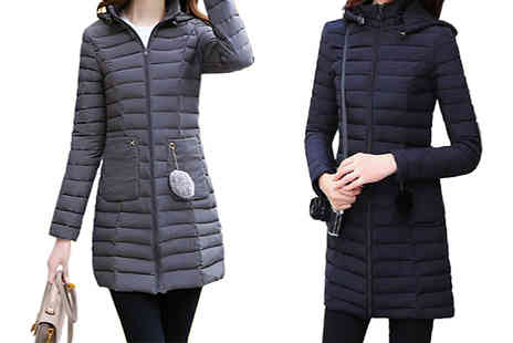 Shapelle - Quilted Winter Puffer Jacket Available in Four Colours - Save 58%