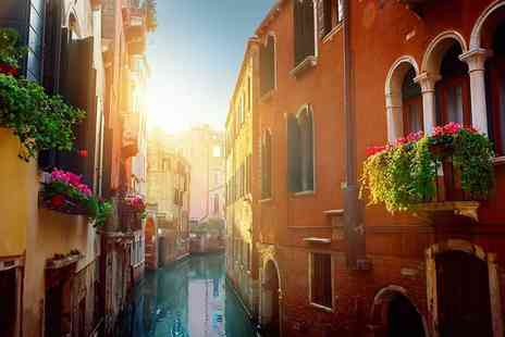 Weekender Breaks - Two night Venice break with breakfast, basket of chocolate strawberries, a glass of Italian Spumante and return flights - Save 39%