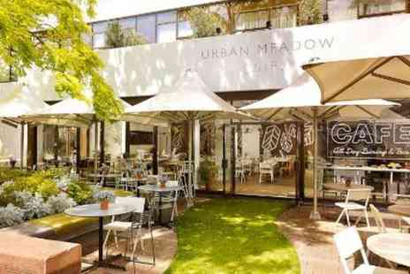 London Hyde Park Hotel - Three course dinner for two with a bottle of bubbly at the Urban Meadow Cafe & Bar - Save 57%