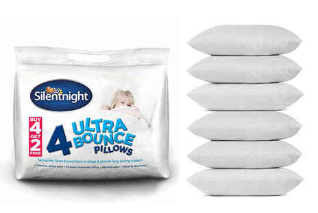 Chums - Six Silentnight Ultrabounce pillows - Save 58%