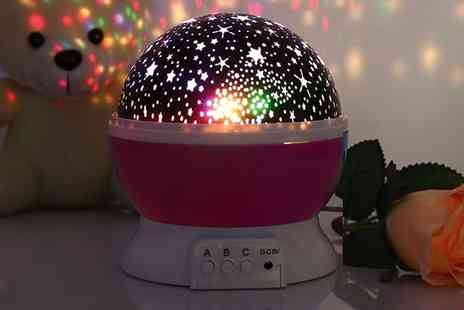Groupon Goods Global GmbH - Bedroom Nursery Rotating Led Star Projector Night Light Lamp in Choice of Colours - Save 0%