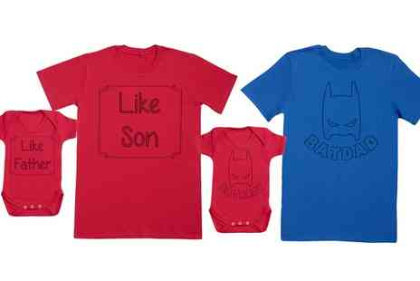 Groupon Goods Global GmbH - Spoilt Rotten Baby and Father Matching Tshirt and Bodysuit Set - Save 47%