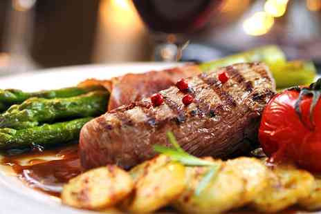 The Crown Stirrup Pub - 8oz Sirloin Steak Meal for Two or Four with a Glass of Wine Each - Save 47%