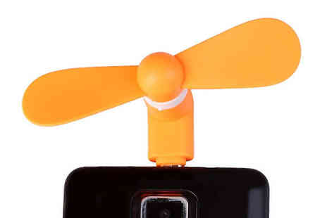 Playtech - 3 x Portable Mini Fans Available in Five Colours - Save 60%