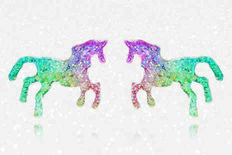 Solo Act - Pair of unicorn earrings - Save 86%