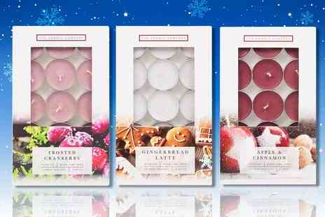 London Exchain Store - Christmas tea light candle set with three scents - Save 77%