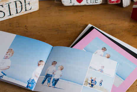 Huggler - 100 page personalised square softcover photo book - Save 76%