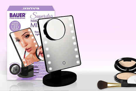 ViVo Technologies - LED light mirror with magnifier - Save 57%