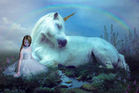 Boyd Photographers - 45 minute fairies and unicorns photoshoot for up to two children including one 8 x 6 mounted print and a £50 voucher towards all digital images or an album - Save 89%