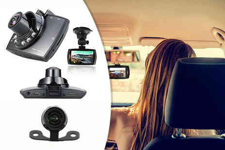 Nex Buy - HD front and rear dashcam or dashcam with an SD card - Save 72%