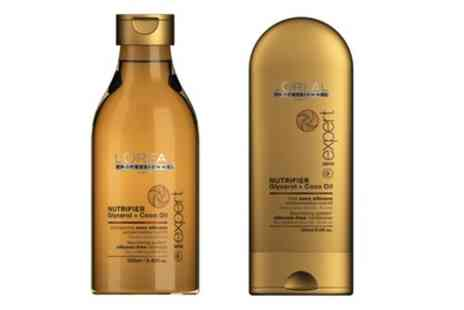 Groupon Goods Global GmbH - L Oreal Nutrifier Shampoo and Conditioner Set - Save 60%