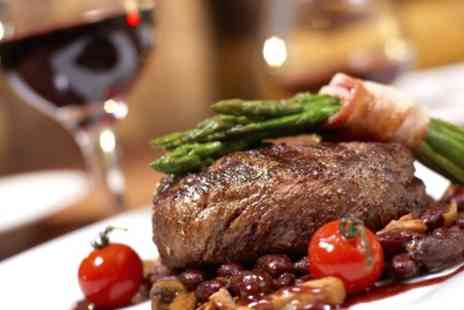 Skylark Golf and Country Club - 10oz Sirloin Steak with Chips and Wine for Two or Four - Save 44%