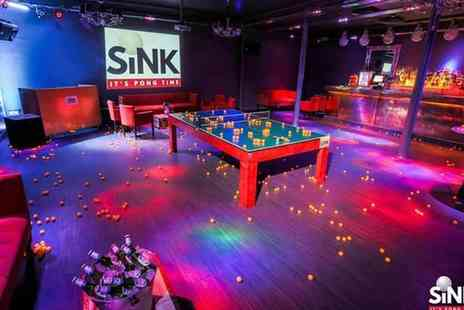 Sink Pong - One hour of Prosecco pong and a carafe of Frizzante - Save 50%
