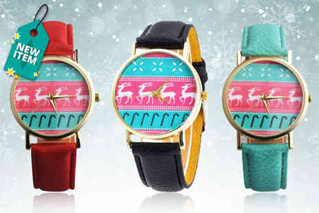 Solo Act - Christmas reindeer watch - Save 76%