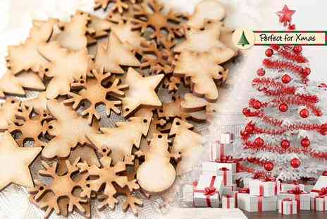 E Smartshop - Pack of 50 Christmas plywood decorations - Save 80%